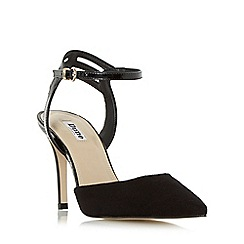 Dune - Black 'Chelsee' pointed toe two part court shoe