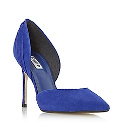Dune - Blue 'Clover' rouched detail d orsay court shoe