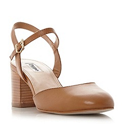 Dune - Tan 'Cierra' two part block heel court shoe