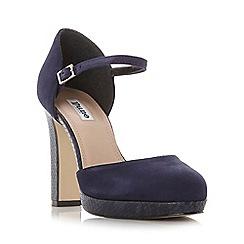 Dune - Navy 'Chia' two part platform court shoe