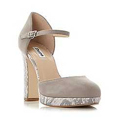 Dune - Grey 'Chia' two part platform court shoe