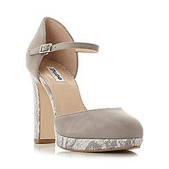 Dune - Grey 'Chia' two part platform court shoe