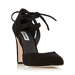 Dune - Black 'Cannes' round toe block heel lace up court