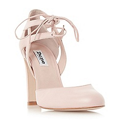 Dune - Pink 'Cannes' round toe block heel lace up court