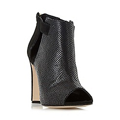 Dune - Black 'Cersei' peep toe high heel sandal