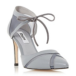 Dune - Grey 'Cosete' two part mesh detail high heel court shoe
