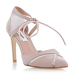 Dune - Neutral two part mesh detail high heel court shoe