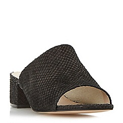 Dune - Black 'India' block heel mule sandal