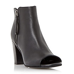 Dune - Black 'Jaspa' peep toe heeled shoe boot