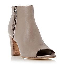 Dune - Taupe 'Jaspa' peep toe heeled shoe boot