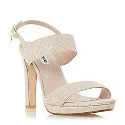Dune - Black 'Maye' double strap slim platform sandal