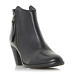 Dune - Black 'Penny' western style leather ankle boot