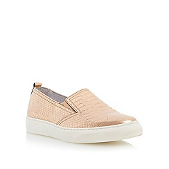 Dune - Metallic pointed toe slip on trainer
