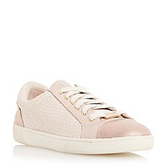 Dune - Light pink 'Edgware' mixed material round toe trainer