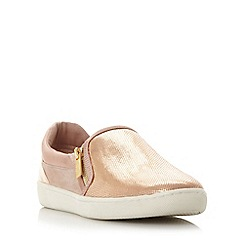Dune - Light pink 'Edgar' mixed material slip on shoe
