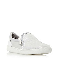 Dune - Silver 'Edgar' mixed material slip on shoe