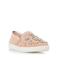 Dune - Light pink 'Echoe' jewel embellished slip on shoe