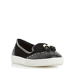 Dune - Black 'Elyse' brogue and tassel detail loafer shoe