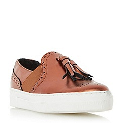 Dune - Bronze 'Etsie' tassel brogue slip on trainer