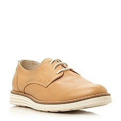 Dune - Camel 'Elvyss' leather white sole trainer