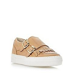 Dune - Camel 'Ervyn' fringe detail monk shoe trainer