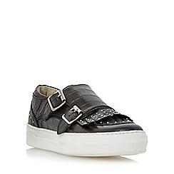 Dune - Black 'Ervyn' fringe detail monk shoe trainer