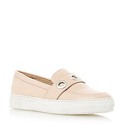 Dune - Pink 'Ellena' metal eyelet slip on trainer