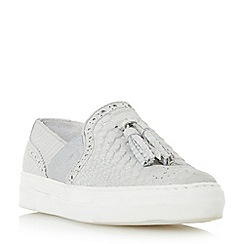 Dune - Silver 'Etsie' tassel brogue slip on trainer