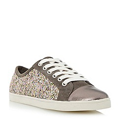 Dune - Metallic mixed material lace up trainer