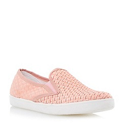 Dune - Nude woven slip-on trainer
