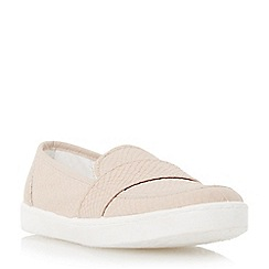 Dune - Pink reptile print loafer style trainer