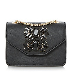 Dune - Black 'Samia-micro' jewelled micro bag