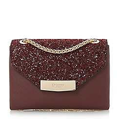 Dune - Dark Red 'Serenity-micro' flap over micro bag