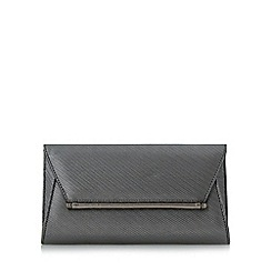 Head Over Heels by Dune - Silver 'Ballery' hardware detail flap over clutch bag