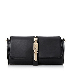Head Over Heels by Dune - Black buckle detail clutch bag