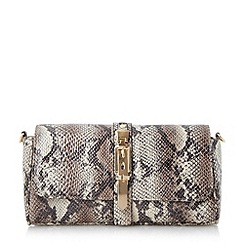 Head Over Heels by Dune - Multi buckle detail clutch bag