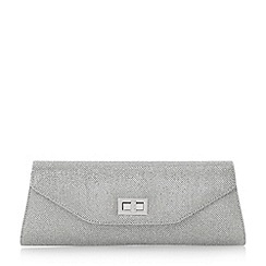 Head Over Heels by Dune - Silver 'Brava' fold over turn lock clutch bag