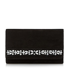 Head Over Heels by Dune - Black 'Begara' diamante detail clutch bag