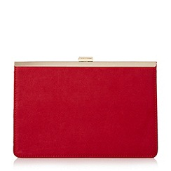 Head Over Heels by Dune - Red 'Barlie' metal frame clutch bag