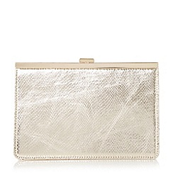 Head Over Heels by Dune - Gold 'Barlie' metal frame clutch bag