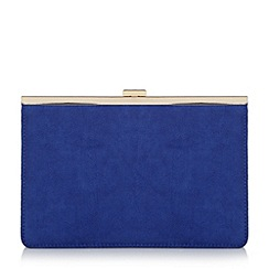 Head Over Heels by Dune - Blue 'Barlie' metal frame clutch bag