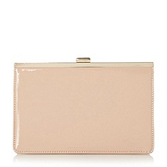 Head Over Heels by Dune - Natural 'Barlie' metal frame clutch bag