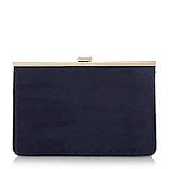 Head Over Heels by Dune - Navy 'Barlie' metal frame clutch bag