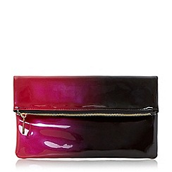 Head Over Heels by Dune - Red 'Balley' ombre fold over clutch bag