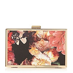 Head Over Heels by Dune - Multicoloured 'Banito' floral box clutch bag