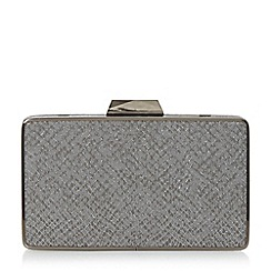 Head Over Heels by Dune - Grey 'Bamby' reptile box clutch bag