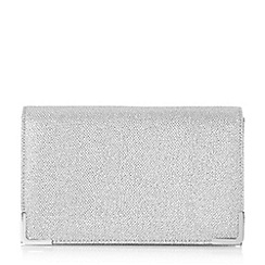 Head Over Heels by Dune - Silver 'Banberry' metal corner fold over clutch bag