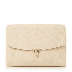 Head Over Heels by Dune - Natural 'Bryonie' patchwork flapover clutch bag