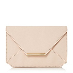 Head Over Heels by Dune - Natural 'Beronica' envelope clutch bag
