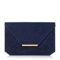 Head Over Heels by Dune - Navy 'Beronica' envelope clutch bag